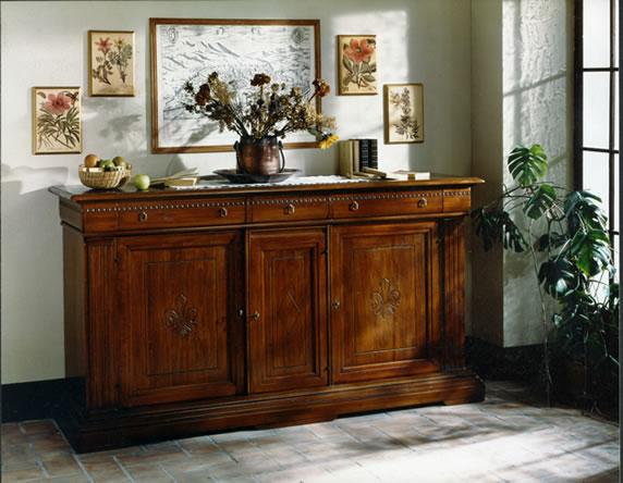 Mobili da soggiorno antichi design casa creativa e - Mobili soggiorno legno massello ...